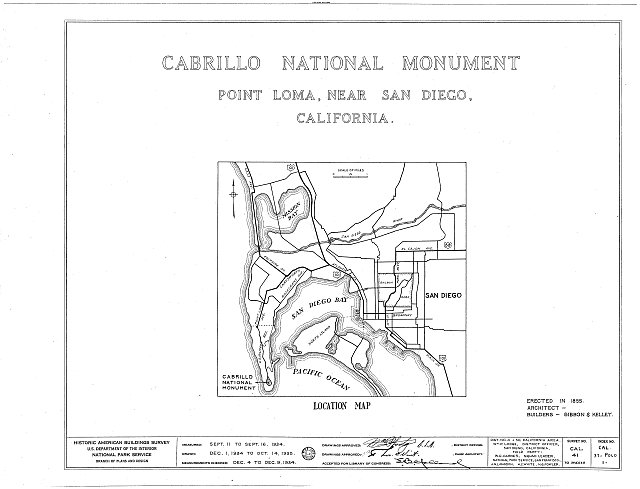 HABS CAL,37-POLO,1- (sheet 0 of 10) - Point Loma Lighthouse No. 355, (moved), San Diego, San Diego County, CA