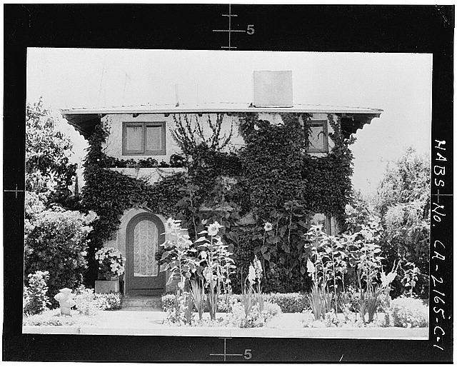 1.  FACADE (photocopy from a 1975 snapshot, photographer unknown) - Albatross Cottages, Teats Cottage No. 2, 3407 Albatross Street, San Diego, San Diego County, CA