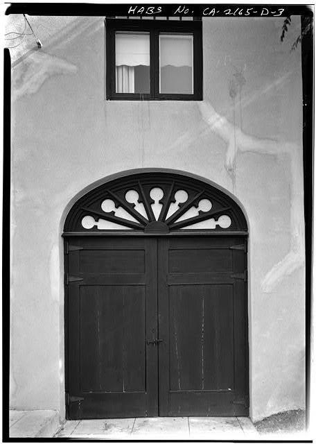 3.  GARAGE DOOR, WEST FRONT - Albatross Cottages, Teats Cottage No. 1, 3415 Albatross Street, San Diego, San Diego County, CA