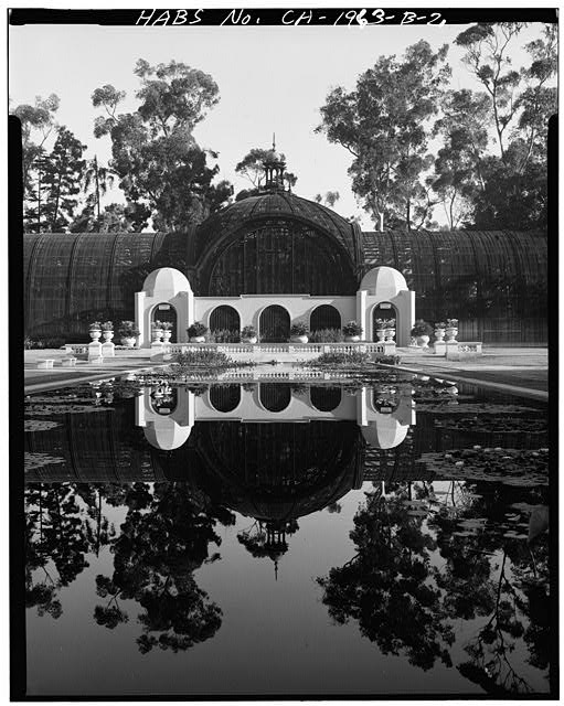 2.  CLOSE VIEW WITH LILY POND - Balboa Park, Botanical Garden, Balboa Park, El Prado Area, San Diego, San Diego County, CA