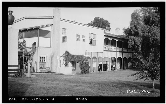 4.  Historic American Buildings Survey Photographed by Henry F. Withey May 1937 NORTH AND EAST ELEVATIONS - Don Juan Bandini Home, Mason & Calhoun Streets, San Diego, San Diego County, CA