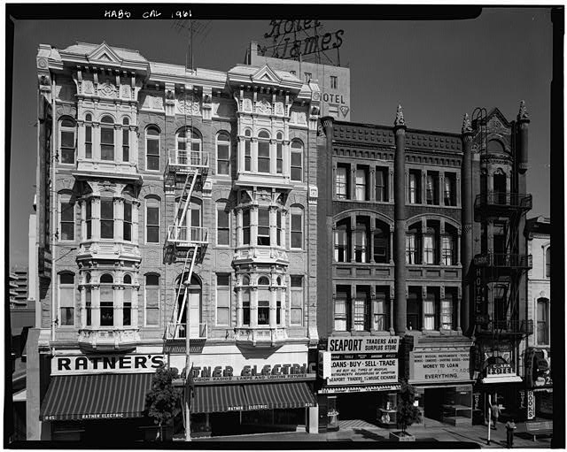 2.  Historic American Buildings Survey Marvin Rand, Photographer August 1971 WEST (FRONT) ELEVATION WITH NESMITH-GREELY BUILDING TO THE RIGHT - Bank of Commerce Building, 835 Fifth Avenue, San Diego, San Diego County, CA