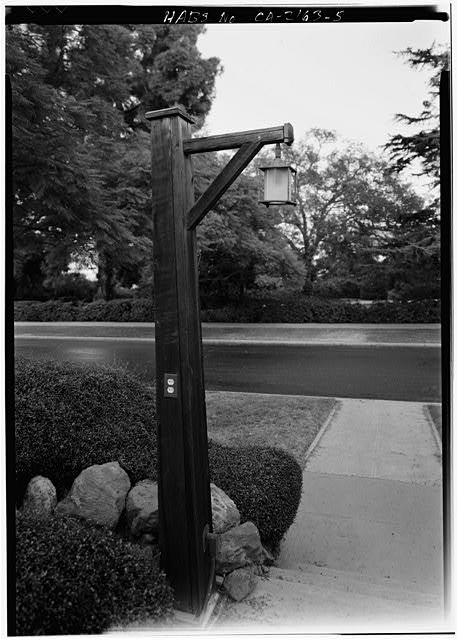 5.  LAMP POST - Mary Cossitt House, 3526 Seventh Avenue, San Diego, San Diego County, CA