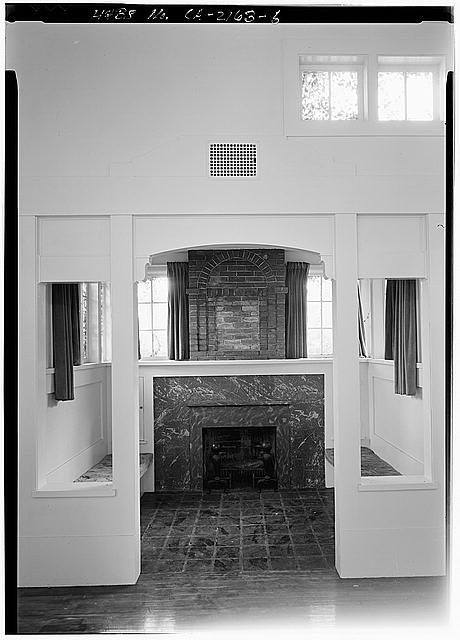 6.  LIVING ROOM INGLENOOK - Mary Cossitt House, 3526 Seventh Avenue, San Diego, San Diego County, CA
