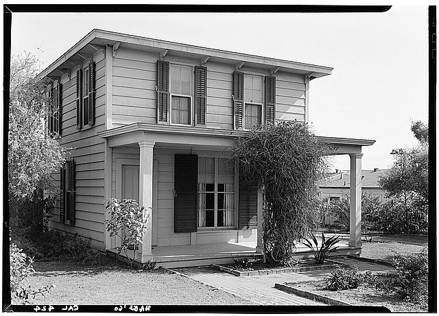 2.   October 1960 FRONT (WEST) ELEVATION (Original Location) - George Derby House, 4017 Harney Street, San Diego, San Diego County, CA