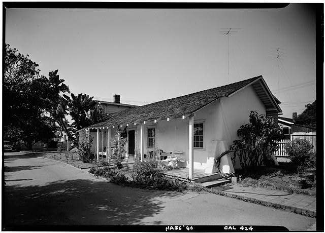 3.   October 1960 VIEW OF ADOBE WING - George Derby House, 4017 Harney Street, San Diego, San Diego County, CA