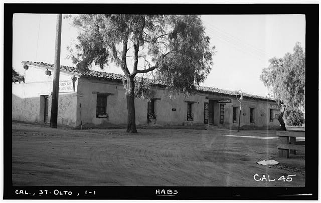 1.  Historic American Buildings Survey Photographed by Henry F. Withey June 1937 VIEW FROM NORTHWEST - Jose Antonio Estudillo House, Mason Street & San Diego Avenue, Old Town, San Diego, San Diego County, CA