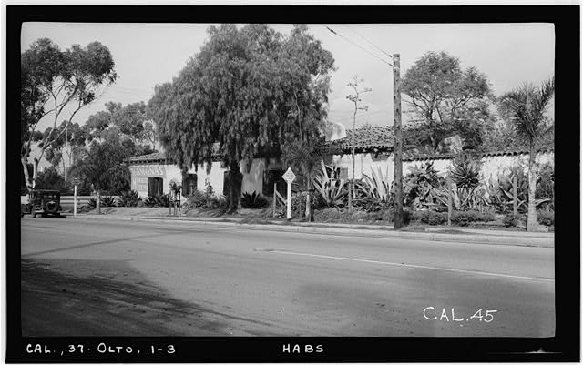 3.  Historic American Buildings Survey Photographed by Henry F. Withey December 1936 SOUTH ELEVATION - Jose Antonio Estudillo House, Mason Street & San Diego Avenue, Old Town, San Diego, San Diego County, CA