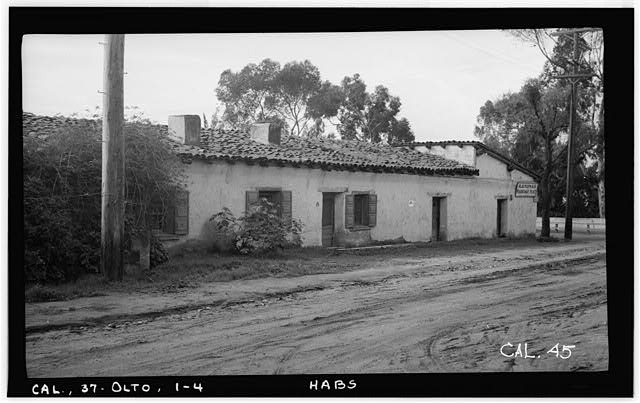 4.  Historic American Buildings Survey Photographed by Henry F. Withey December 1936 NORTH ELEVATION - Jose Antonio Estudillo House, Mason Street & San Diego Avenue, Old Town, San Diego, San Diego County, CA