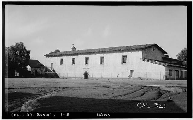 5.  Historic American Buildings Survey. Photographed by Henry F. Withey December 1936. EAST FACADE - Mission San Diego de Alcala, Misson Valley Road, San Diego, San Diego County, CA