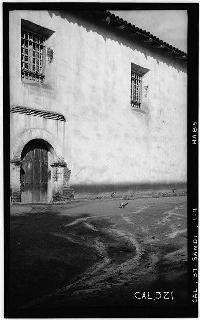 9.  Historic American Buildings Survey Photographed by Henry F. Withey, December, 1936 EAST ENTRANCE TO NAVE. - Mission San Diego de Alcala, Misson Valley Road, San Diego, San Diego County, CA