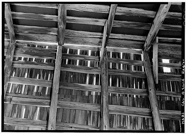 4.  ROOF FRAMING - Kimbie-Wilson House, Warner Springs, San Diego County, CA
