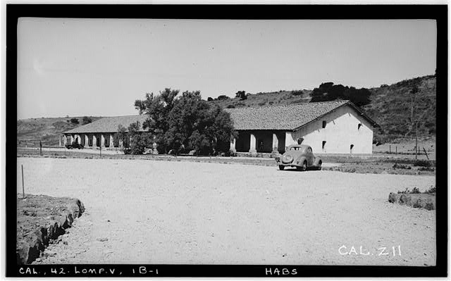 2.  Historic American Buildings Survey Photographed by Henry F. Withey May 1937 MONASTERY, FROM THE SOUTHEAST - Mission La Purisima Concepcion, Lompoc, Santa Barbara County, CA