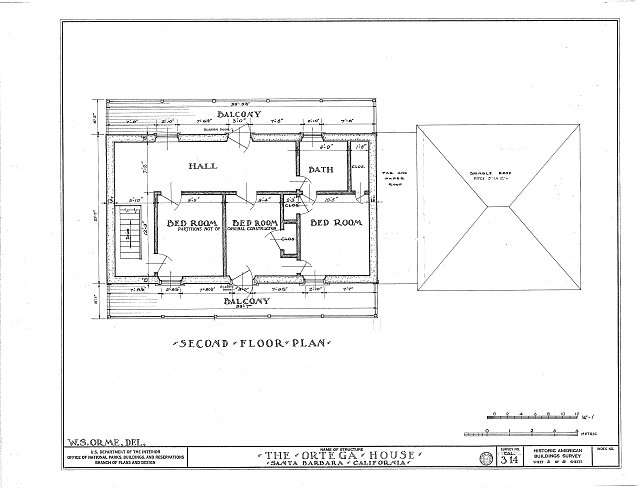 HABS CAL,42-MONT,1- (sheet 2 of 5) - Ortega House, 29 Sheffield Drive, Montecito, Santa Barbara County, CA