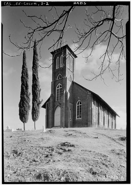 2.  Historic American Buildings Survey Roger Sturtevant, Photographer Jan. 21, 1934 NORTH-WEST ELEVATION (FRONT) - St. Anne's Church, Church Street, Columbia, Tuolumne County, CA