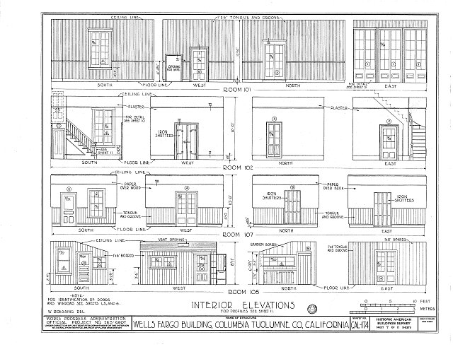 HABS CAL,55-COLUM,3- (sheet 7 of 11) - Wells Fargo & Company Building, Main & Washington Streets (Columbia State Historical Park), Columbia, Tuolumne County, CA