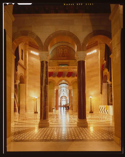 Monica Griesbach, Photographer August 1997. VIEW OF LOS ANGELES CITY HALL THIRD FLOOR NORTH SIDE OF THE ROTUNDA, FACING SOUTH - Los Angeles City Hall, 200 North Spring Street, Los Angeles, Los Angeles County, CA