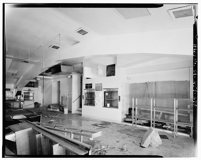 Bruce D. Judd, FAIA, Photographer August 1997. VIEW OF LOS ANGELES CITY HALL ELEVENTH FLOOR KITCHEN OF EXECUTIVE DINING AREA SHOWING ARCHED STRUCTURE, FACING NORTHWEST - Los Angeles City Hall, 200 North Spring Street, Los Angeles, Los Angeles County, CA
