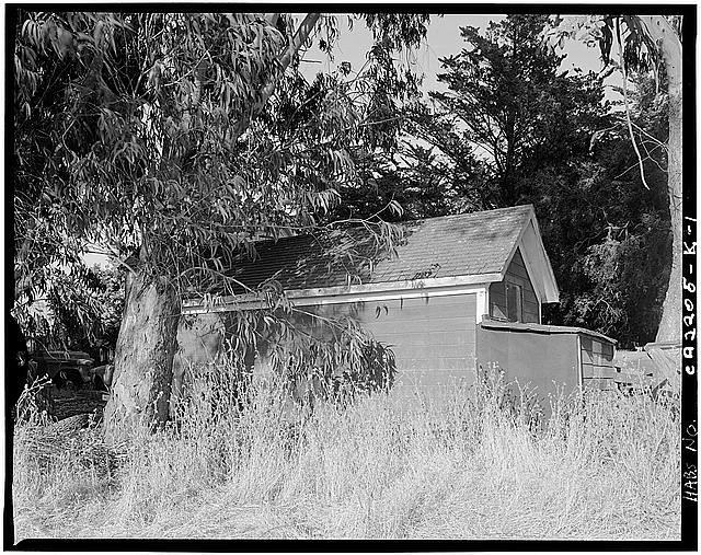 1.  EXTERIOR, WEST FACADE - Schlake Ranch, Garage, 2300 East Washington Street, Petaluma, Sonoma County, CA