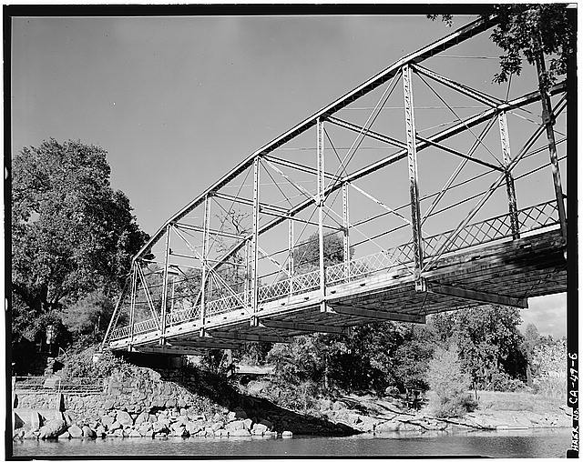6.  BRIDGE PLATE, WEST ELEVATION - Cache Creek Bridge, Spanning Cache Creek, Dam Road vicinity, Clearlake, Lake County, CA