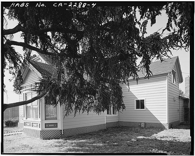 4.  VIEW OF CHAMPION HOUSE EAST FRONT AND NORTH SIDE, FACING SOUTHWEST - Champion House, 1357 Mowry Avenue, Fremont, Alameda County, CA