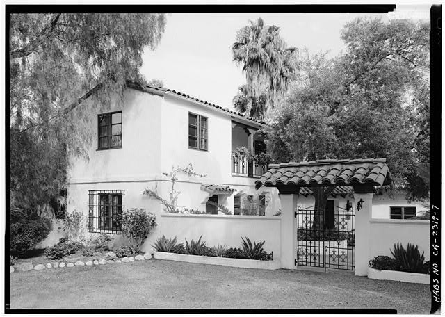 7.  NORTHWEST AND SOUTHWEST SIDES OF NORTHEAST ELL - Stoltzfus-Humphries House, 6855 La Valle Plateada, Rancho Santa Fe, San Diego County, CA