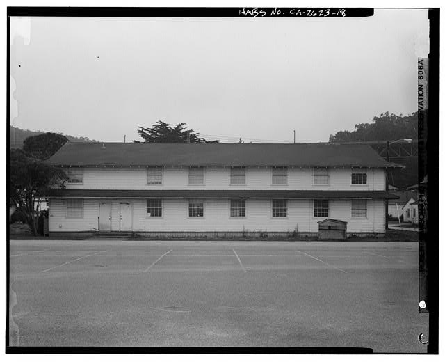 Building No. 905, north side - Presidio of San Francisco, Enlisted Men's Barracks Type, West end of Crissy Field, between Pearce & Maudlin Streets, San Francisco, San Francisco County, CA