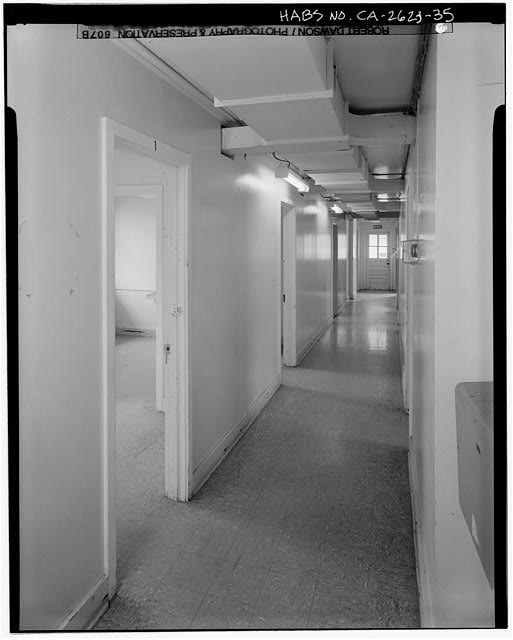 Building No. 909, first floor hallway - Presidio of San Francisco, Enlisted Men's Barracks Type, West end of Crissy Field, between Pearce & Maudlin Streets, San Francisco, San Francisco County, CA