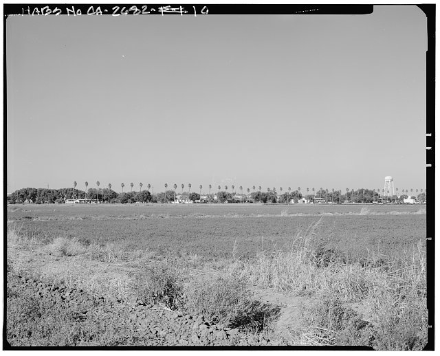 View of navigational channel, looking southwest from navy land. - Naval Supply Annex Stockton, Rough & Ready Island, Stockton, San Joaquin County, CA