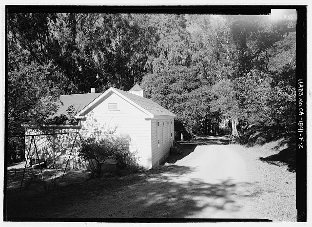Perspective view from southeast - Camp Reynolds, Chapel, Angel Island State Park, Angel Island, Marin County, CA