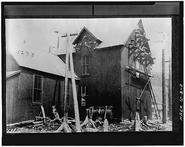 2.  EXTERIOR VIEW (C.1895) OF THE 1895 POWER HOUSE. - Ames Hydroelectric Plant, Ames, San Miguel County, CO