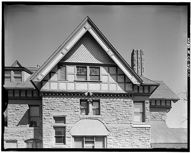 11.  DETAIL OF GABLE ON SOUTH SIDE - George Schleier Mansion, 1665 Grant Street, Denver, Denver County, CO