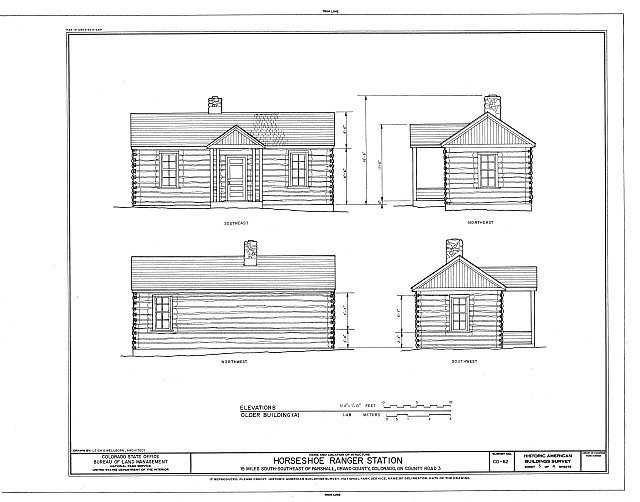 HABS COLO,25-PARS.V,1- (sheet 3 of 4) - Horseshoe Ranger Station, 15 miles South of Parshall, Parshall, Grand County, CO