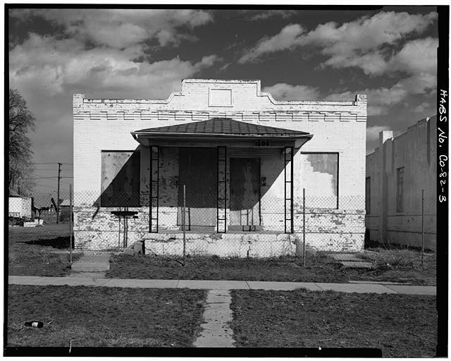 3.  VIEW OF FRONT LOOKING WEST - Golda Meir House, 1606-1608 Julian Street (moved to 1301 South Lipan Street), Denver, Denver County, CO