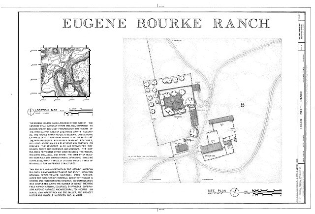 HABS COLO,36-MOD.V,7- (sheet 1 of 1) - Eugene Rourke Ranch, 19 miles east of U.S. Highway 350, Model, Las Animas County, CO