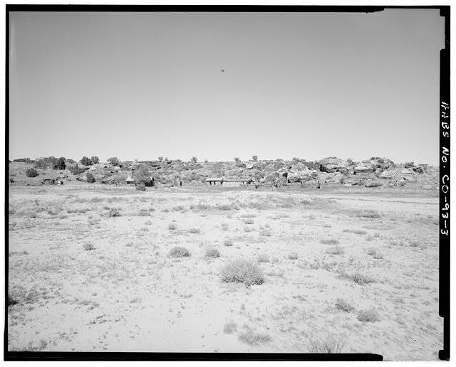 General view of entire complex, looking north. - John Sanders Cross Homestead, 11 miles east of U.S. Highway 350, Model, Las Animas County, CO