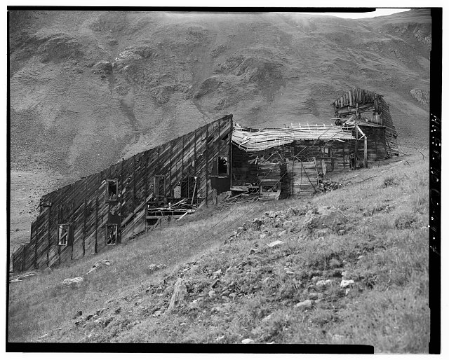4.  EXTERIOR VIEW OF MILL FROM NORTH. - Sound Democrat Mill, Placer Creek Valley, Silverton, San Juan County, CO
