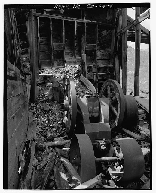 7.  'SAMSON' JAW CRUSHER. - Sound Democrat Mill, Placer Creek Valley, Silverton, San Juan County, CO