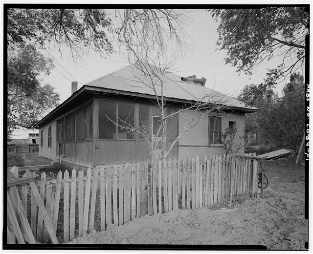 Adam and Bessie Arnet Residence, front and left side, looking northwest. - Adam & Bessie Arnet Homestead, Adam & Bessie Arnet Residence, 18 feet west of Generator House, Model, Las Animas County, CO