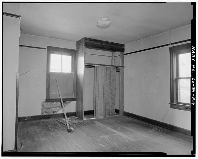 Adam and Bessie Arnet Residence, interior, west jacal room. - Adam & Bessie Arnet Homestead, Adam & Bessie Arnet Residence, 18 feet west of Generator House, Model, Las Animas County, CO