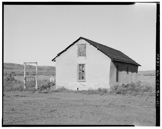 Original residence, east and north sides, looking southwest. - Samuel T. Brown's Sheep Ranch, Original Residence, 110 feet northwest of main residence, Model, Las Animas County, CO