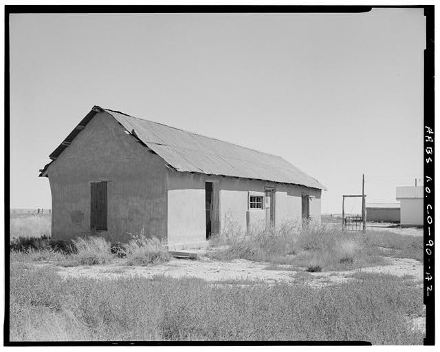 Original residence, west and south sides, looking northeast. - Samuel T. Brown's Sheep Ranch, Original Residence, 110 feet northwest of main residence, Model, Las Animas County, CO