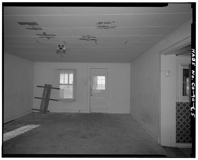 Main residence, interior northeast living room. - Samuel T. Brown's Sheep Ranch, Main Residence, 110 feet southeast of original residence, Model, Las Animas County, CO