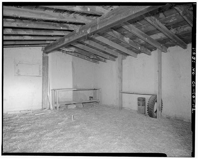 Garage, interior - Samuel T. Brown's Sheep Ranch, Garage, 30 feet northeast of main residence, Model, Las Animas County, CO