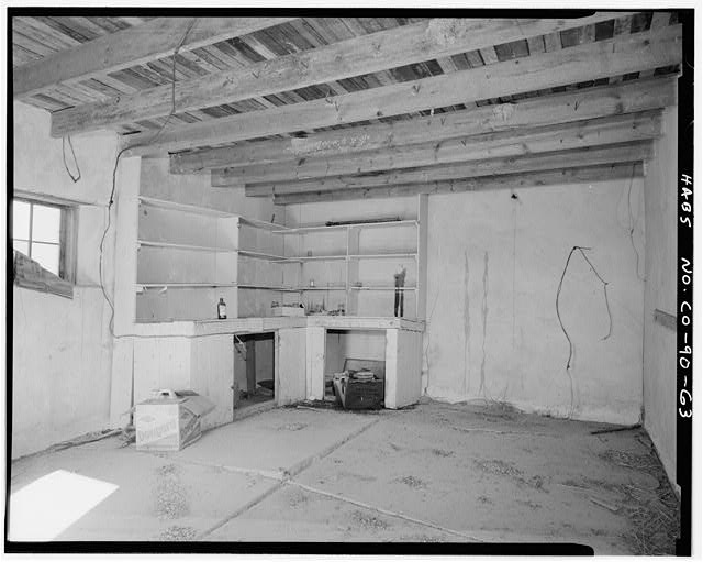 Commissary interior. - Samuel T. Brown's Sheep Ranch, Commissary, 20 feet west of horse barn, Model, Las Animas County, CO