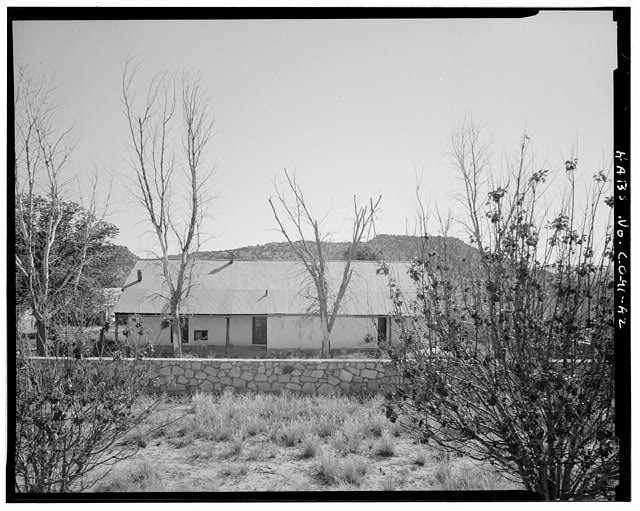 Residence, right side, looking south. - Eugene Rourke Ranch, Residence, 40 feet west of bunkhouse, Model, Las Animas County, CO