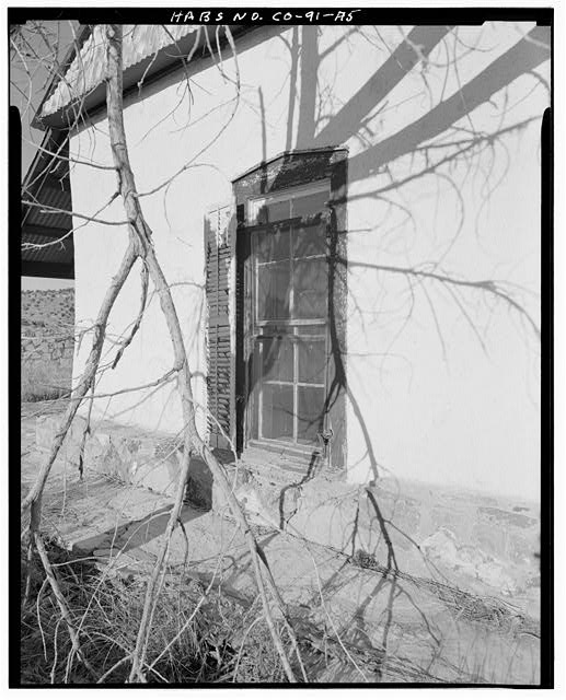 Residence, exterior detail, window rear of house, looking east. - Eugene Rourke Ranch, Residence, 40 feet west of bunkhouse, Model, Las Animas County, CO