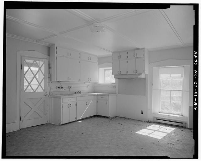 Residence, interior kitchen. - Eugene Rourke Ranch, Residence, 40 feet west of bunkhouse, Model, Las Animas County, CO