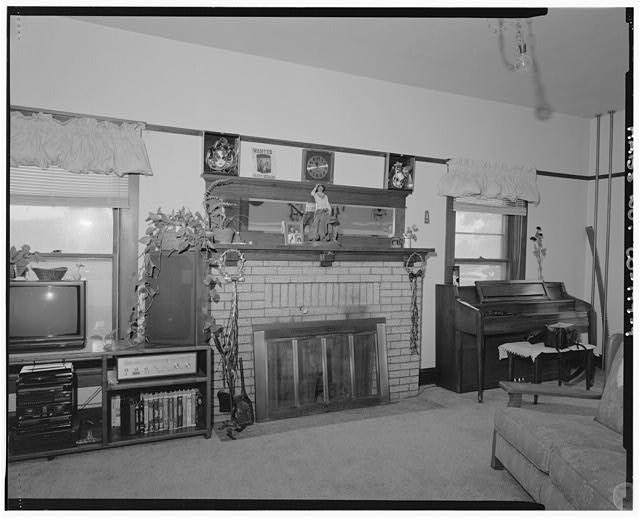 Interior detail showing fireplace in living room - Charles L. Wilson Residence, 307 Forty-second Street, Campion, Larimer County, CO