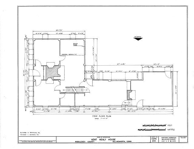 HABS CONN,4-KILWO,2- (sheet 1 of 8) - Kent Healy House, Chestnut Hill Road, Killingworth, Middlesex County, CT